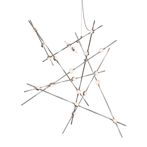 SONNEMAN Constellation Satin Nickel LED 50-Inch Pendant
