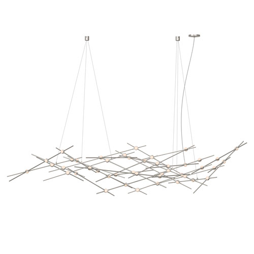 Constellation Satin Nickel LED 94-Inch Pendant