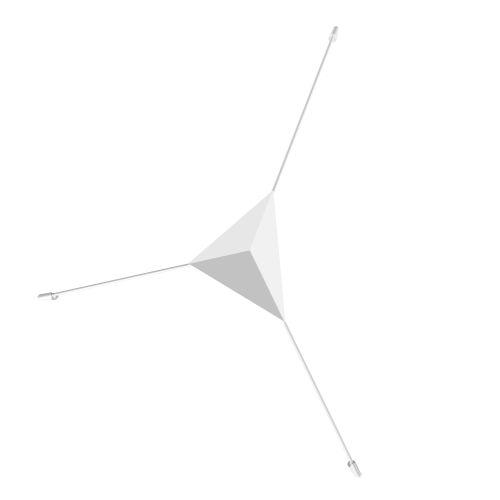 Abstract Satin White Medium LED Surface Mount