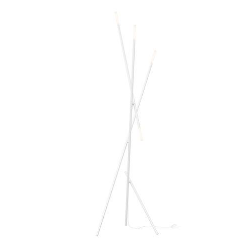 Jax Satin White Four-Light LED Floor Lamp