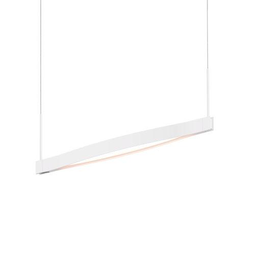 Ola Satin White 28-Inch LED Pendant
