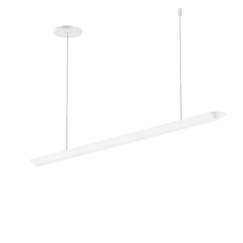 Glide Satin White 40-Inch LED Pendant