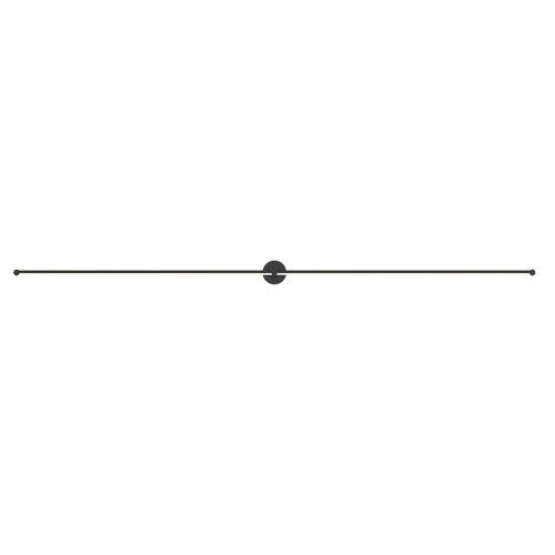 Purolinear 360 Satin Black 97-Inch Two-Light Double Linear LED Wall Bar