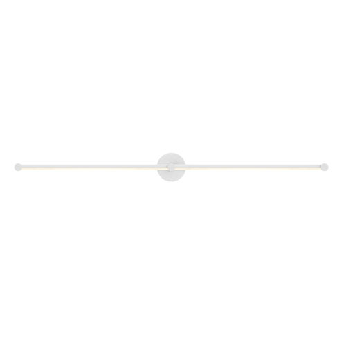 Purolinear 360 Satin White 49-Inch Two-Light Double Linear LED Wall Bar
