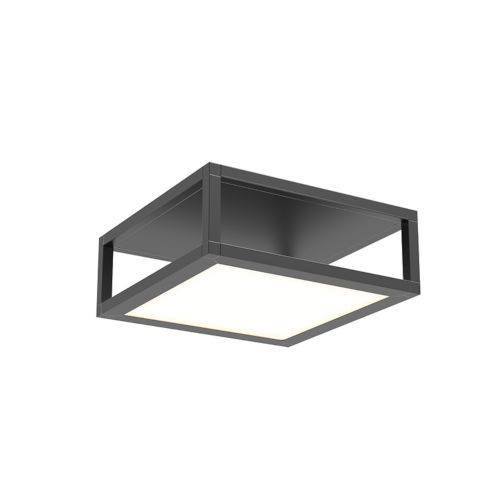Cubix Satin Black One-Light LED Flush Mount