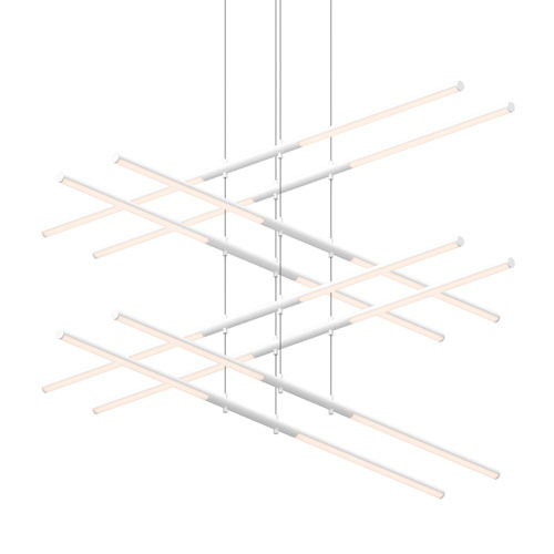 SONNEMAN Tik-Tak Satin White LED 47.5-Inch Pendant