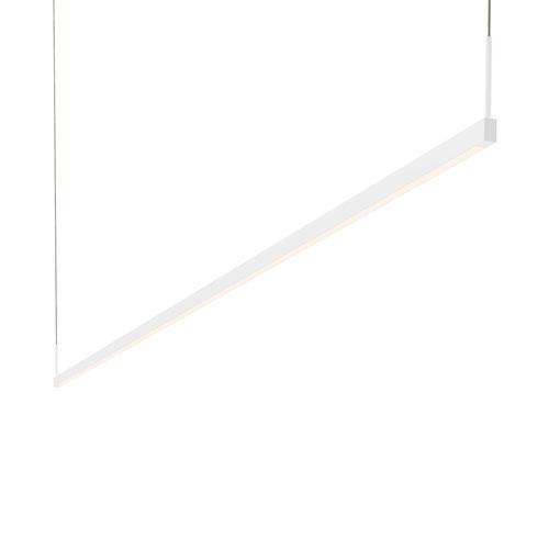 SONNEMAN Thin-Line Satin White LED 96-Inch Pendant
