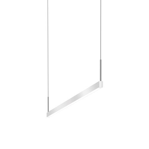 Thin-Line Bright Satin Aluminum LED 36-Inch Pendant