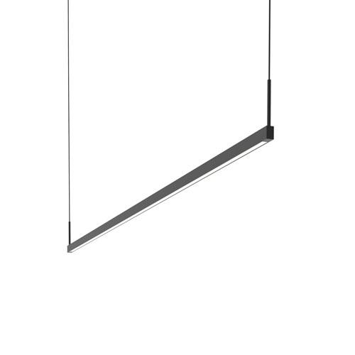 Thin-Line Satin Black LED 72-Inch Pendant