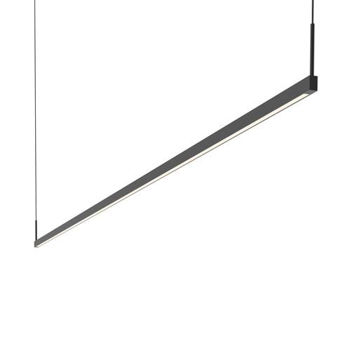 Thin-Line Satin Black LED 96-Inch Pendant