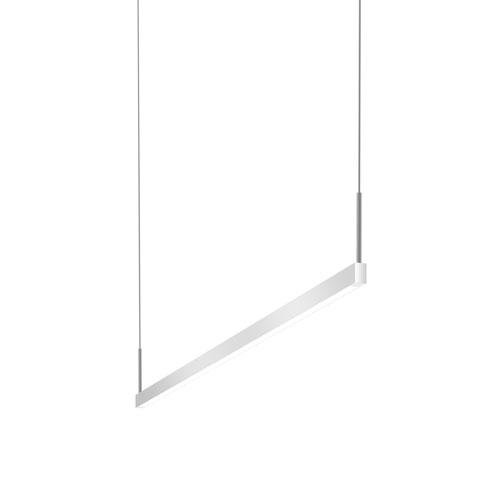 Thin-Line Bright Satin Aluminum LED 48-Inch Pendant
