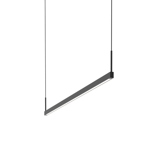 Thin-Line Satin Black LED 48-Inch Pendant