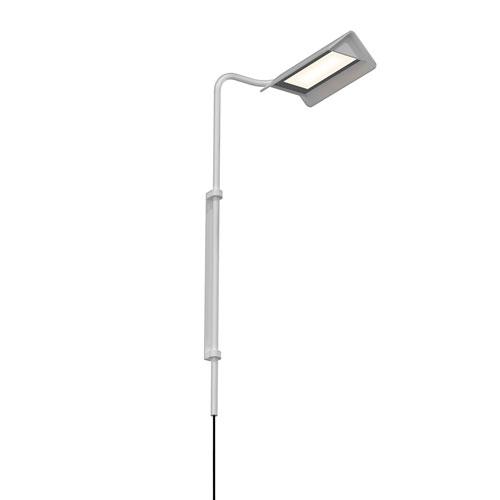 Morii Bright Satin Aluminum LED 10-Inch Wall Lamp