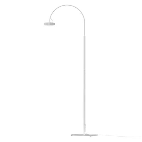 Pluck Satin White LED 20-Inch Floor Lamp