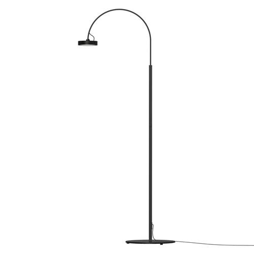 Pluck Satin Black LED 20-Inch Floor Lamp