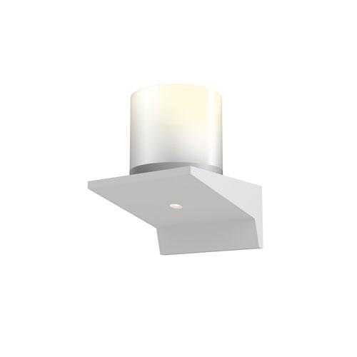 SONNEMAN Votives Satin White LED 4-Inch Wall Sconce