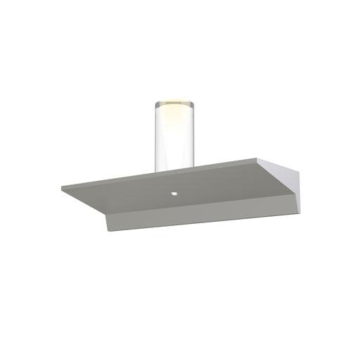 Votives Bright Satin Aluminum LED 12-Inch Wall Bar