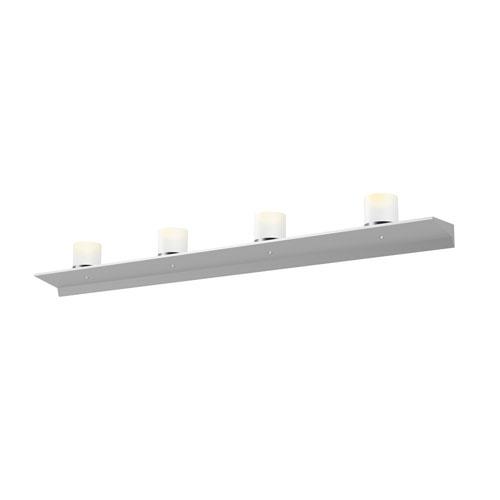 SONNEMAN Votives Bright Satin Aluminum LED 48-Inch Wall Bar