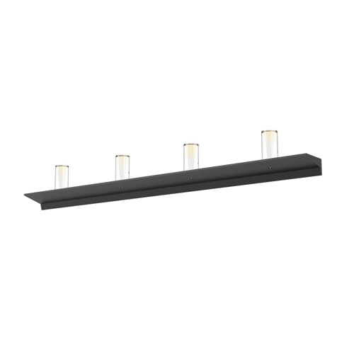 SONNEMAN Votives Satin Black LED 48-Inch Wall Bar