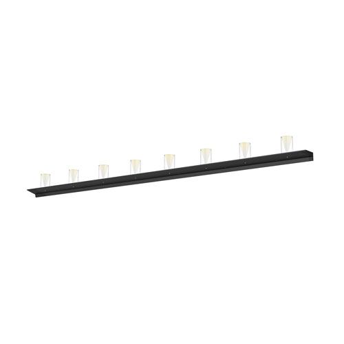 Votives Satin Black LED 96-Inch Wall Bar