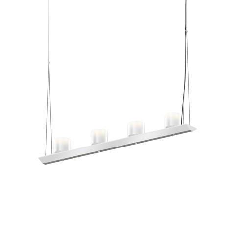 SONNEMAN Votives Bright Satin Aluminum LED 32-Inch Pendant