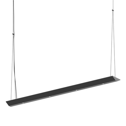 Votives Satin Black LED 32-Inch Pendant