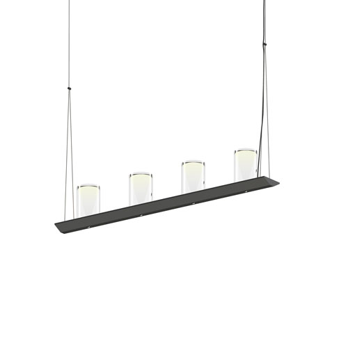 SONNEMAN Votives Satin Black LED 32-Inch Pendant