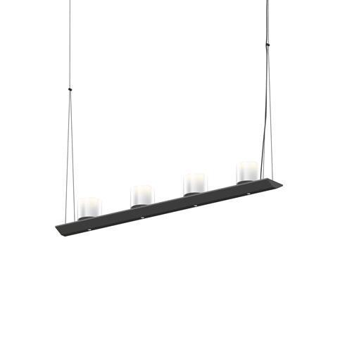 SONNEMAN Votives Satin Black LED 32-Inch Pendant