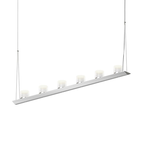 SONNEMAN Votives Bright Satin Aluminum LED 48-Inch Pendant