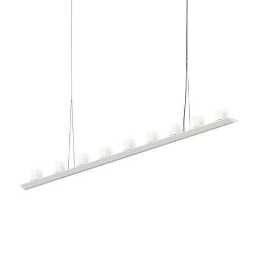 SONNEMAN Votives Satin White LED 72-Inch Pendant