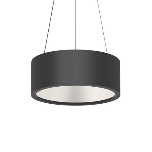 Tromme Satin Black LED 18-Inch Pendant