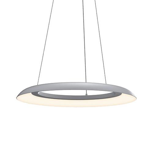 Torus Dove Gray 24-Inch One-Light LED Pendant