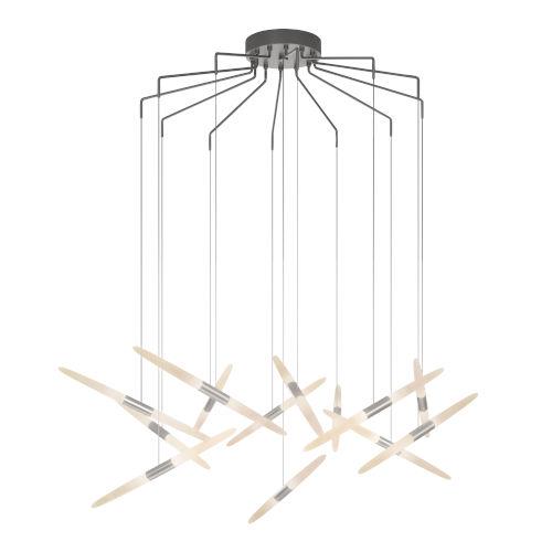 Ballet Satin Aluminum 27-Inch 13-Light Spreader LED Pendant
