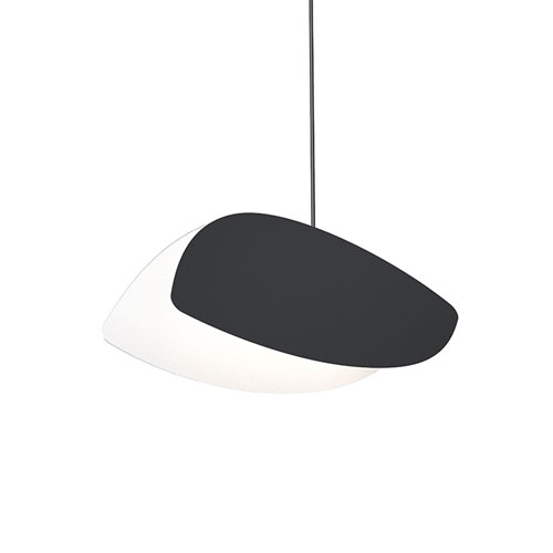 Papillons Satin Black 12-Inch LED Pendant