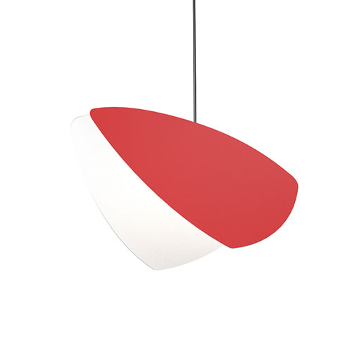 Papillons Satin Red LED Pendant