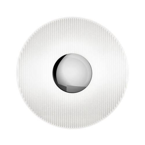 Meclisse Polished Chrome LED Sconce with Etched Glass