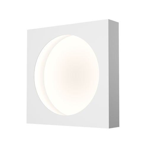 Vuoto Satin White 10-Inch LED Sconce