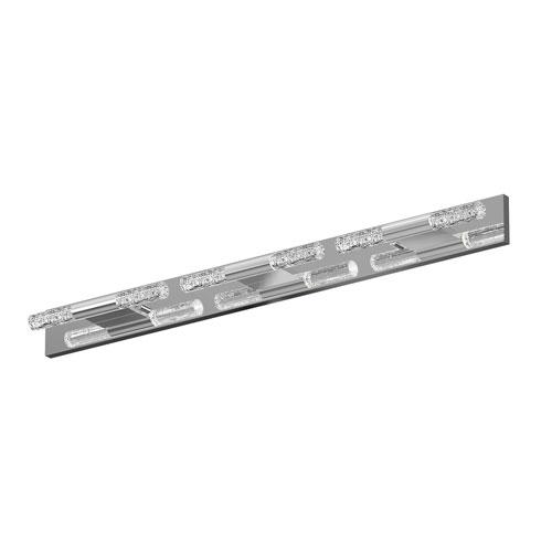 Crystal Rods Polished Chrome LED 28-Inch Bath Vanity