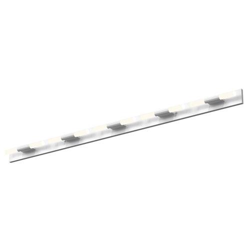 Crystal Rods Satin White LED 47-Inch Bath Vanity