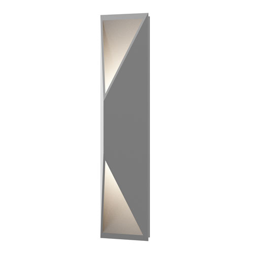 SONNEMAN Prisma Textured Gray LED 5-Inch Wall Sconce