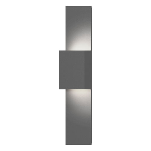 Flat Box Textured Gray LED 6-Inch Wall Sconce