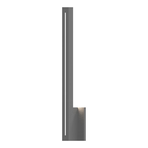 Stripe Textured Gray LED 1.5-Inch Wall Sconce