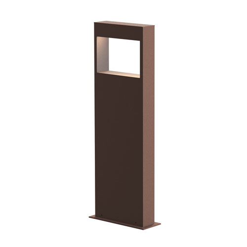 Light Frames Textured Bronze LED 7-Inch Bollard