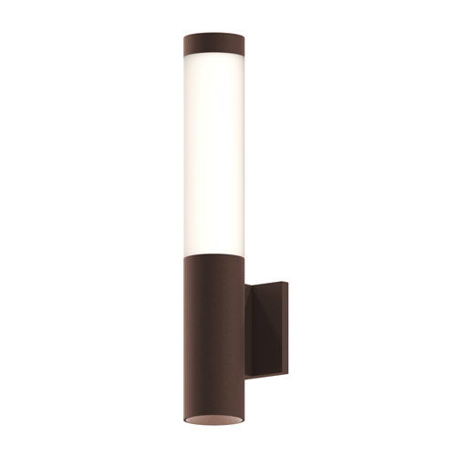 Round Column Textured Bronze LED 3-Inch Wall Sconce