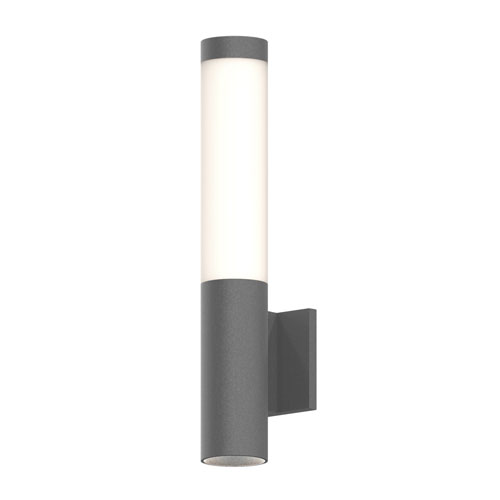 SONNEMAN Round Column Textured Gray LED 3-Inch Wall Sconce