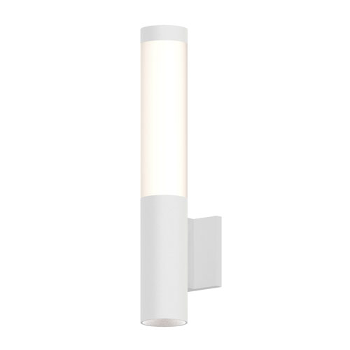 Round Column Textured White LED 3-Inch Wall Sconce