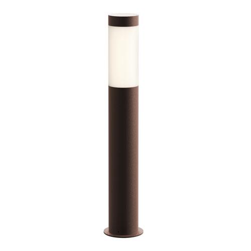 Round Column Textured Bronze LED 3-Inch Bollard