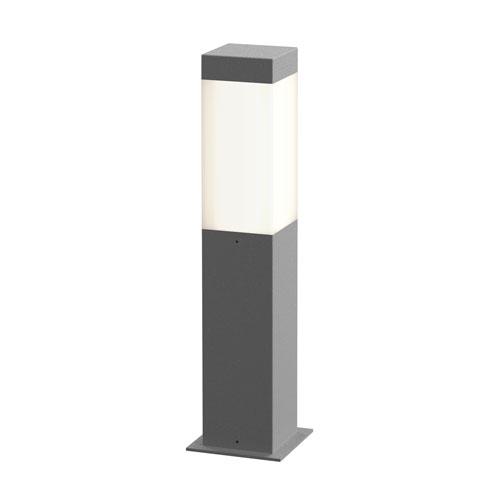 SONNEMAN Square Column Textured Gray LED 3-Inch Bollard