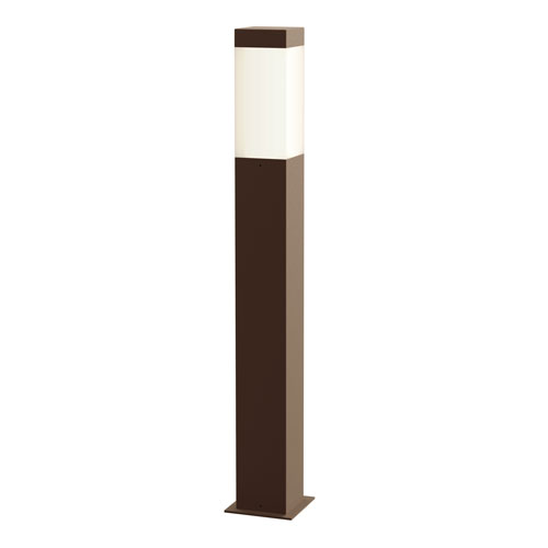 Square Column Textured Bronze LED 3-Inch Bollard