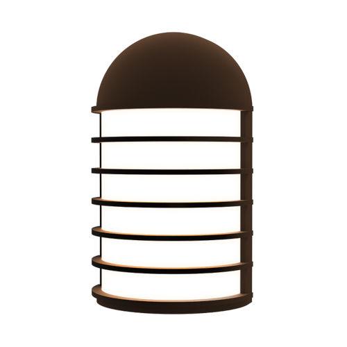 Lighthouse Textured Bronze Short LED Sconce